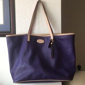 Purple Coach tote